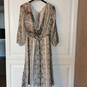 J. Crew collection 100% silk snake print dress